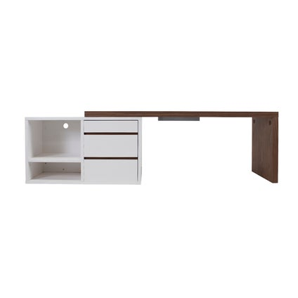 Executive Desk - Walnut/White