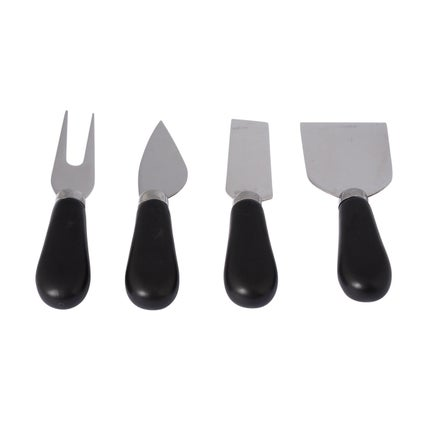 Olio Cheese Board Cutlery Set - Black/Silver - 4pc