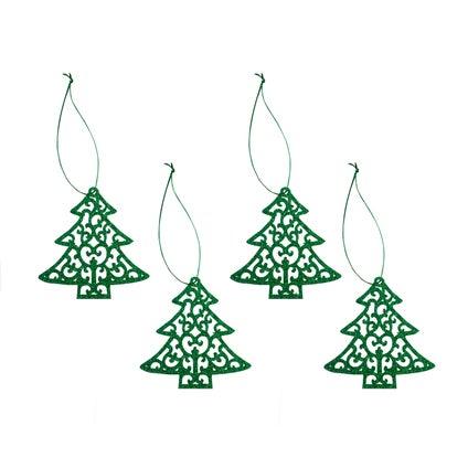 Yuletide Felt Decorations - 4pc - Xmas Tree
