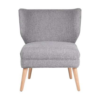 Calista Armchair - Oak - Grey