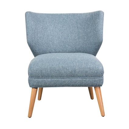 Calista Armchair - Oak - Dusty Blue