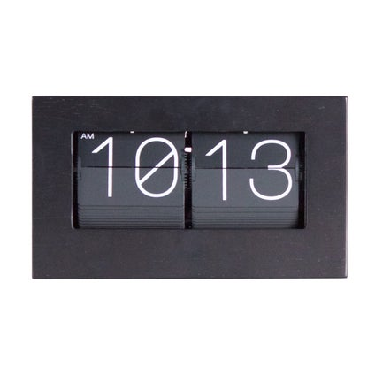 Retro Flip Clock - Black - 21cm