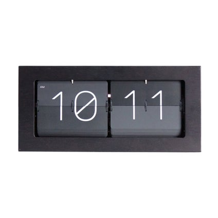 Retro Flip Clock - Black - 37cm