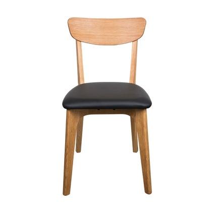 Brighton Dining Chair - Oak/Black