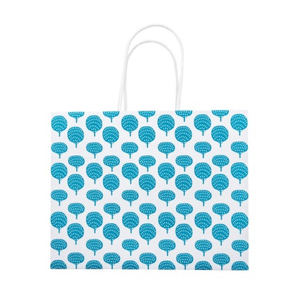 Nood Gift Bag - Trees - White/Teal - Small
