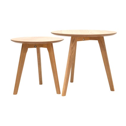 Perk Nest Tables - Oak- 2pc