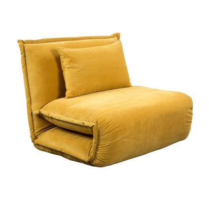 Overlap Sofa Bed Single - Yellow