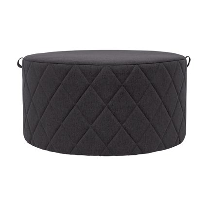Bessie Ottoman- Large- Charcoal