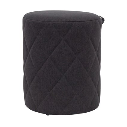 Bessie Ottoman - Small - Charcoal