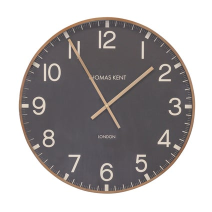 Crofter Wall Clock - Black/Brass