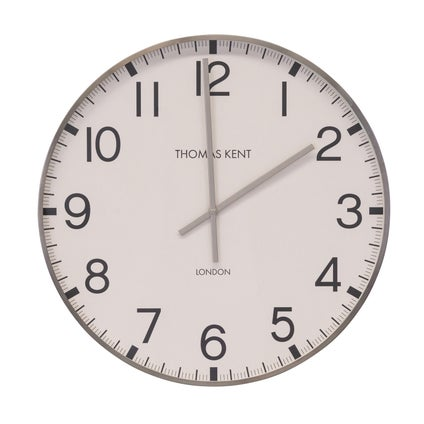 Crofter Wall Clock - Brushed Pewter