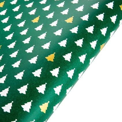Gift Wrap Xmas Tree - Green 10m
