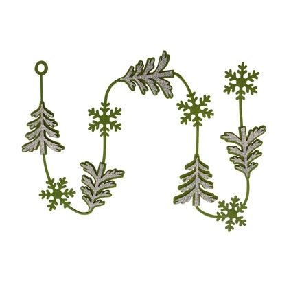 Yuletide String Decoration - Green
