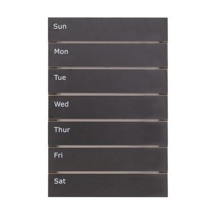 Weekly Chalkboard Planner - Black