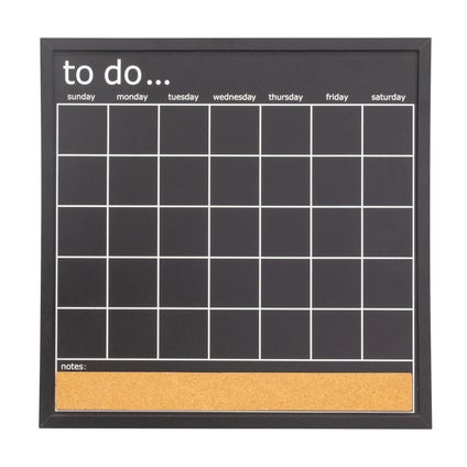 Monthly Chalkboard Planner - Black