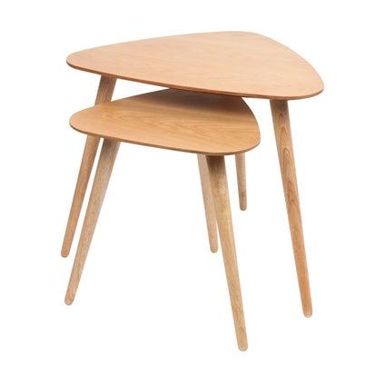 Barber Nest Tables - Oak -2pc