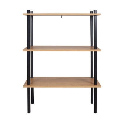 Stow Shelf - Medium- Oak/Black