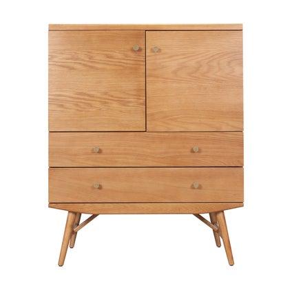 Barber Cabinet- Oak