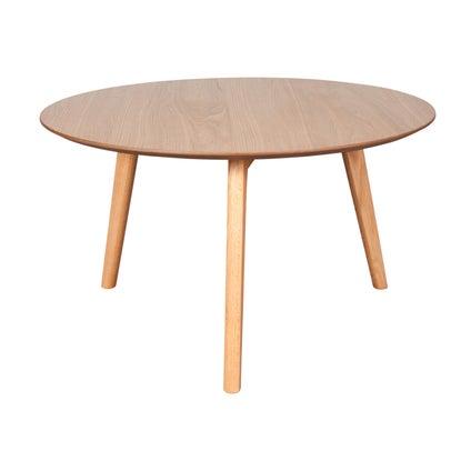 Perk Round Coffee Table- Oak- 80cm