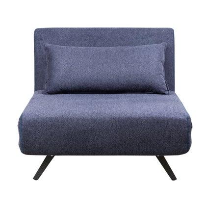 Percy Single Sofa Bed - Dark Blue