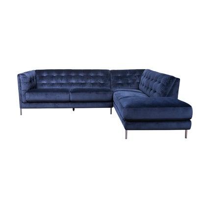 Dante Right Hand Corner Sofa - Dark Blue