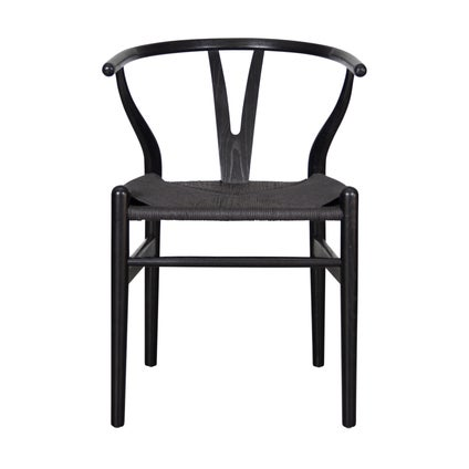 Replica Wishbone Chair - Black