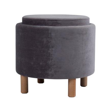 Tray Top Ottoman - Charcoal