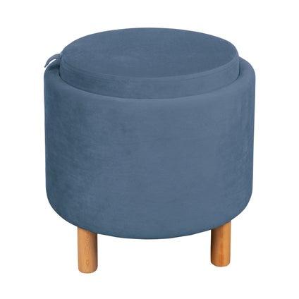 Tray Top Ottoman - Dark Blue