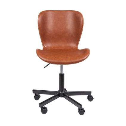 Sala Desk Chair - PU Black/Brandy