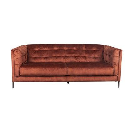 Dante 3 Seat Sofa - Rust