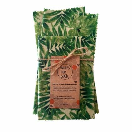 Beeswax Wrap - NZ Made - Foliage 3pc