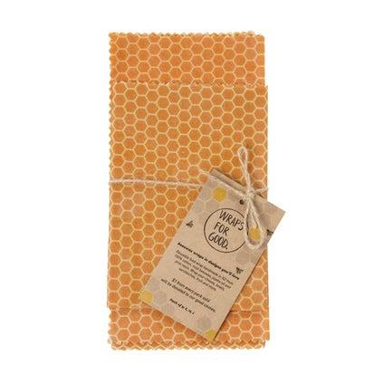Beeswax Wrap - NZ Made - Honeycomb 3pc