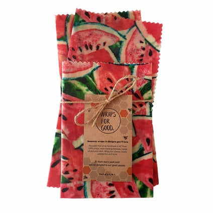 Beeswax Wrap - NZ Made - Watermelon 3pc