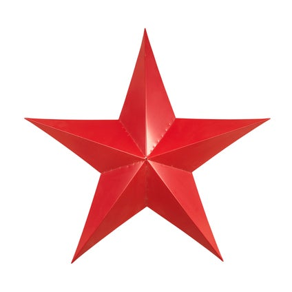 Star Bright Wall Decoration - Red