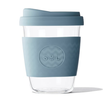Sol Glass Coffee Cup - Blue Stone 355ml
