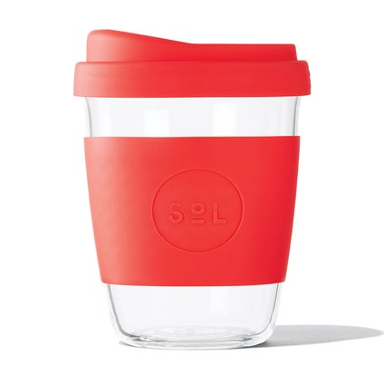 Sol Glass Coffee Cup - Rocket Red 355ml