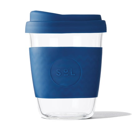 Sol Glass Coffee Cup - Winter Blue 355ml