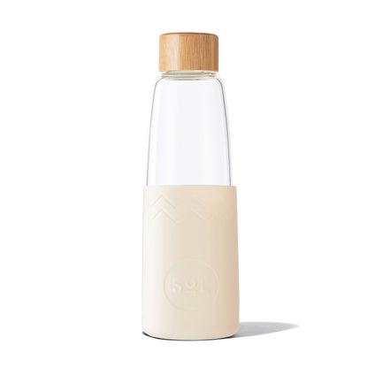 Sol Glass Water Bottle - Coastal Cream 850ml