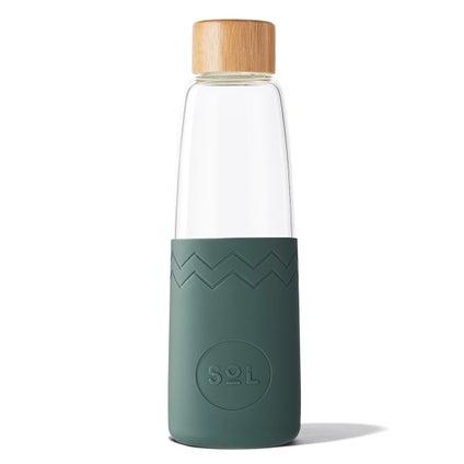 Sol Glass Water Bottle - Deep Sea Green 850ml