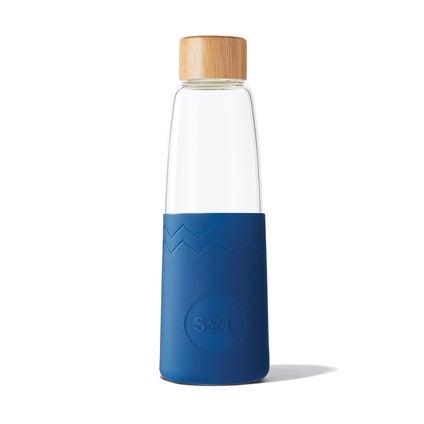 Sol Glass Water Bottle - Winter Blue 850ml