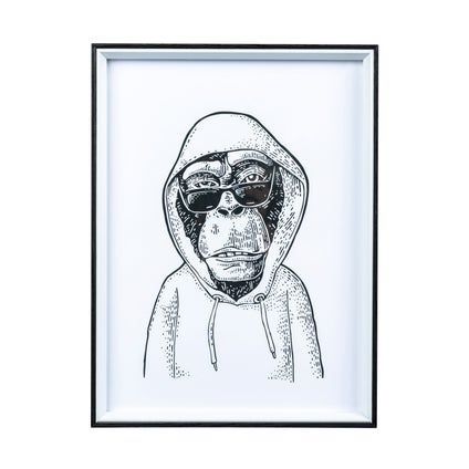 Hipster Monkey Print