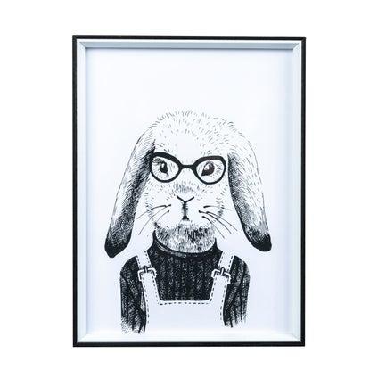 Hipster Rabbit Print