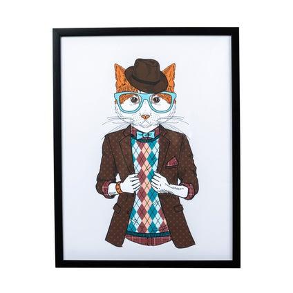 Hipster Feline Print