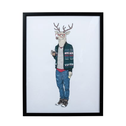 Hipster Stag Print