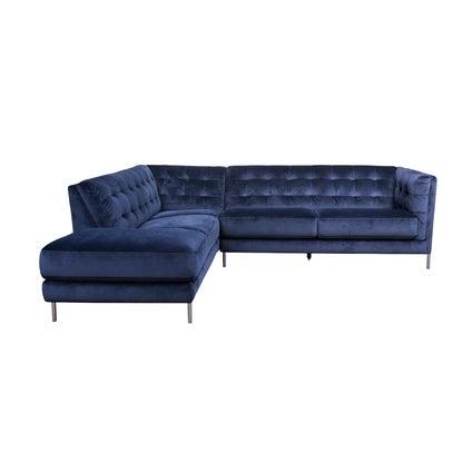 Dante Left Hand Corner Sofa - Dark Blue