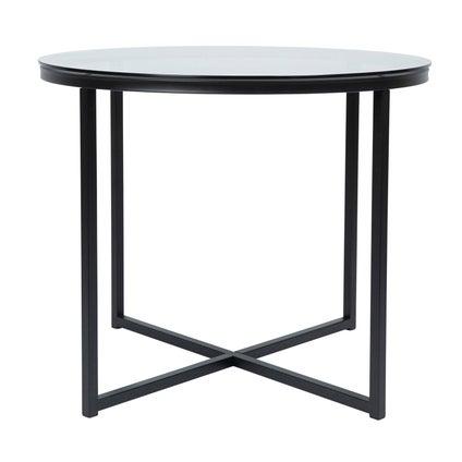Alexa Side Table - Black/Smoke