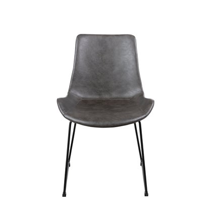 Taylor V2 PU Dining Chair - Charcoal