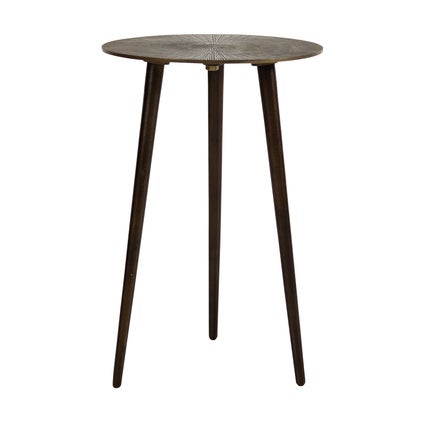 Cleo Side Table - Tall - Antique Brass