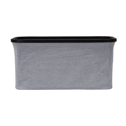 Tyg Rectangle Basket - Grey/Black Large
