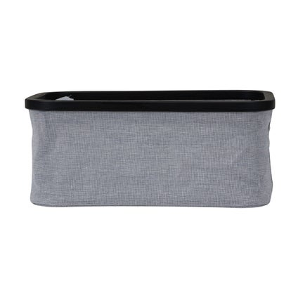 Tyg Rectangle Basket - Grey/black - Medium